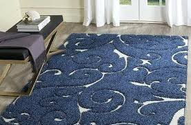 Blue Area Rug Modern Navy In Floral Design
