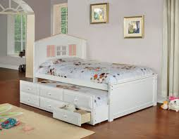 cm7762wh twin lakes captain bed in white w trundle drawers