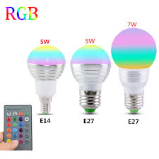 e27 e14 led 16 color changing rgb magic light bulb l 85 265v