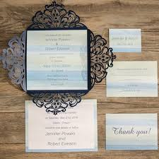 97 best Blue Wedding Invitations images on Pinterest