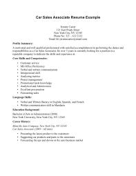 Key Skills Examples Retail Resume Associate Sales Cover Letter With