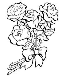 Coloring Pages Of A Bunch Roses For Kids