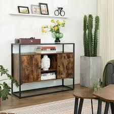 vasagle sideboard beistellschrank anrichte küchenschrank mit glasoberfläche und offenen fächern wohnzimmer flur stabiles stahlgestell hartglas