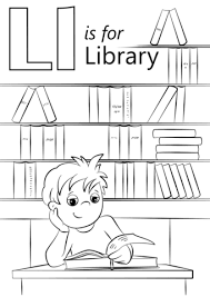 Click To See Printable Version Of Letter L Is For Library Coloring Page