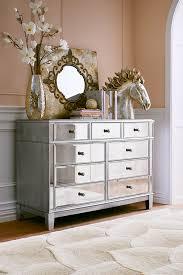 Hayworth Mirrored 3 Drawer Dresser by Hayworth Mirrored Silver Dresser Rave Dresser And Drawers