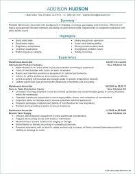 Sample Resume For Warehouse Objectives Examples Supervisor