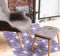 vinylteppich wohnzimmer mystisches muster lila vinyl teppich