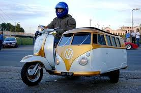 Scooter With VW Van Sidecar