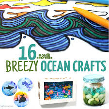 16 Ocean Crafts All In A Sea And Beach Theme I Love These Summer Craft For Kids