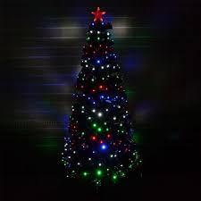 2ft 60cm Christmas Tree Fiber Optic Pre Lit Xmas With LED Lights
