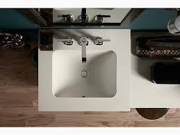 k 20000 caxton rectangular under mount bathroom sink with