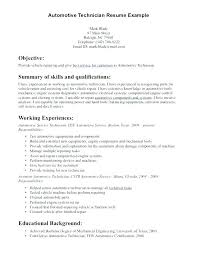 Motorcycle Mechanic Job Description Awesome Generator Resume