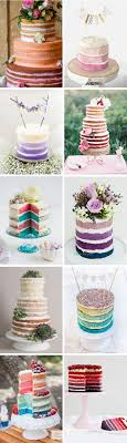 Our Top 10 Naked Ombre Wedding Cakes