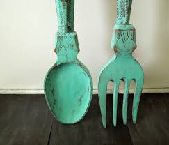 Wood Fork And Spoon Wall Hanging by Placed Giant Spoon And Fork Wall Decor U2014 Home Design Stylinghome