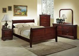 Full Sleigh Bed by Lifestyle Furniture Home Store Louis Cherry Twin Sleigh Bed