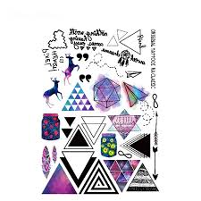 Tatuagem Temporary Tattoo Stickers Kids Fake Tattoos Colorful Gradual Change Fawn Glitter 3D Tatoo Sticker Leg