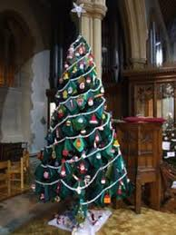 Christmas Tree 10ft by Poole U0027s Knitted 10ft Christmas Tree On Display Bbc News