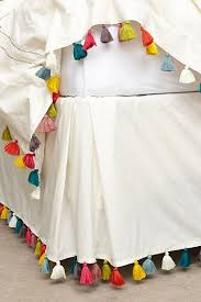 Lindi Fringe Bedskirt anthropologie $148 just a bed skirt