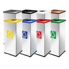 poubelle de bureau tri selectif lot de 10 poubelle tri sélectif recylage eko rectangulaire