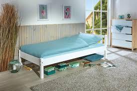 bett einzelbett vilmar 90 x 190 cm weiss massivholz schlafzimmer