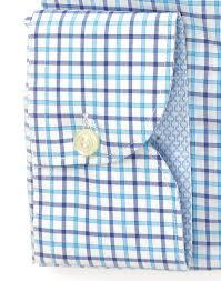 light blue checked dress shirt extra slim body with