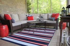 Outdoor & Garden Best Cheap Stripe Indoor Outdoor Rug With Patio
