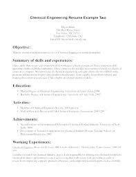 Best Looking Resumes Chemical Engineering Resume Templates Samples Wonderful Word Format