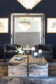 Large Wall Mirrors For Living Room Blue Walls Look Sassy With This Silver Framed Mirror