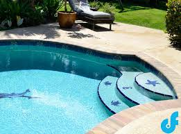 swimming pool mosaics and pool glass tile ideas df pools