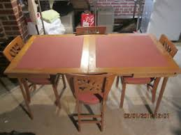 Stakmore Folding Chairs Vintage by Vintage 50 U0027s Stakmore Folding Card Table U0026 4 Chairs Expands 30