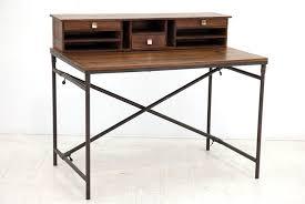 bureau stylé bureau style industriel en palissandre et fer forgé crispy 4949