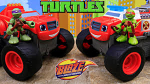 100 Ninja Turtle Monster Truck S With Blaze And The Machines Transforming Fire