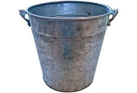 Chic Silver Galvanized Buckets Made Of Metal For Vase Ideas