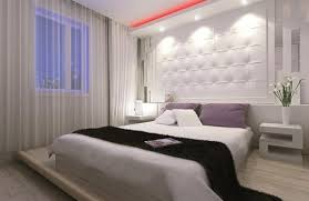 Decoration Eclectic Lighting Ideas Of Modern Bedroom Themed Feat White Padded Wall Panels Also Marvelous