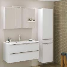 weiße badezimmermöbel 140 cm breit livendas 3 teilig