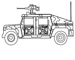 Military Vehicles Coloring Pages Images
