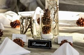 Wedding Centerpiece Ideas Winter Rustic