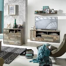 wohnzimmer set kommode wandregal branson 36 vintage driftwood b x h x