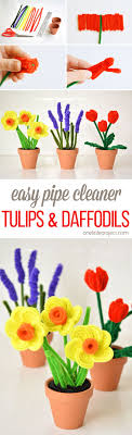 These Pipe Cleaner Daffodils And Tulips Have To Be The PRETTIEST Craft I