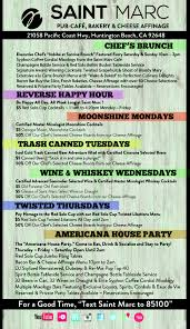 Moonshine Patio Bar Grill Happy Hour by Saint Marc