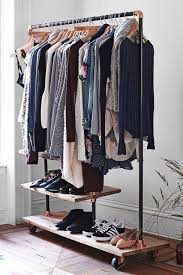 keep your wardrobe in check with freestanding clothing racks