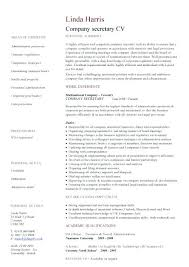 Secretary Resume Company Sample Job Description And Activities Secretaries Executive Examples