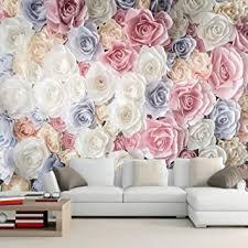 wallpaper rosa blumentapete 3d wandbild wohnzimmer tv sofa