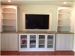 Dining Room Built In Wall Unit Hand Crafted Tv Modern