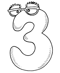 Mr Number 3 Coloring Pages For Kids