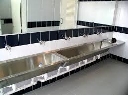 Double Faucet Trough Sink Vanity by Bathroom Trough Sink Bathroom 21 Kohler Drop In Bathroom Sink