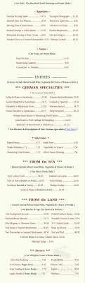 100 Oak Chalet Menu For In Bellmore New York USA