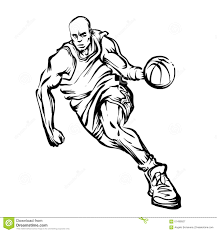 Basketball player stock illustration Illustration of sports