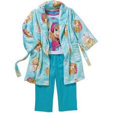 Frozen Bathroom Set Walmart by Frozen Toddler Robe And Pajama 3 Piece Sleepwear Gift Set