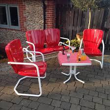 Red Patio Furniture Pinterest by Retro Red Patio Lawn Chair Set Www Swingoramic Com Swingoramic